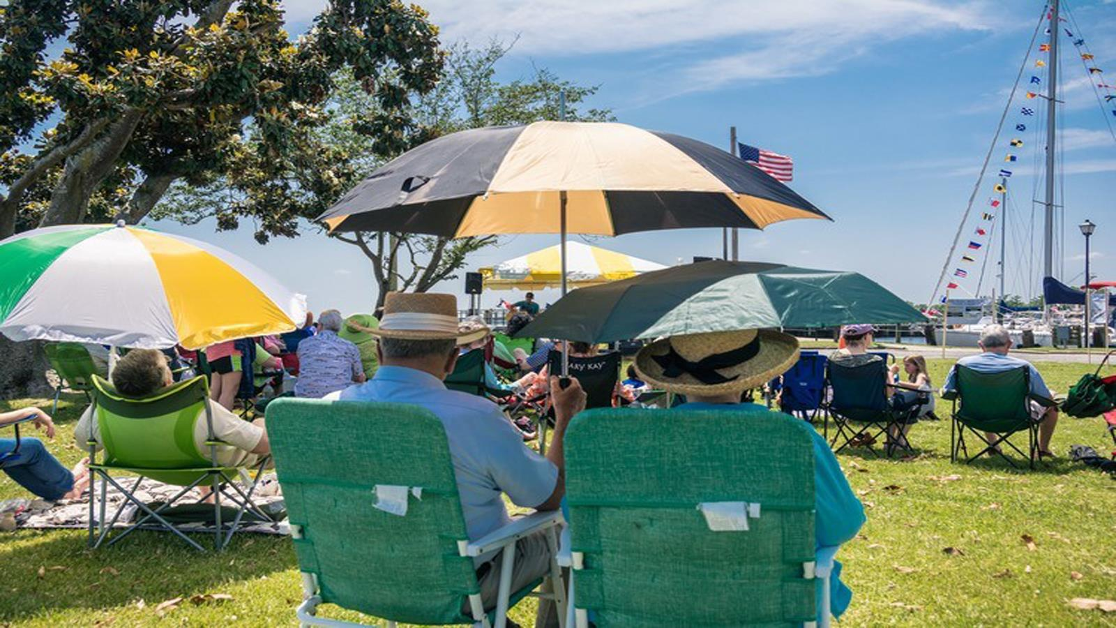 Concert at Edenton NC waterfront