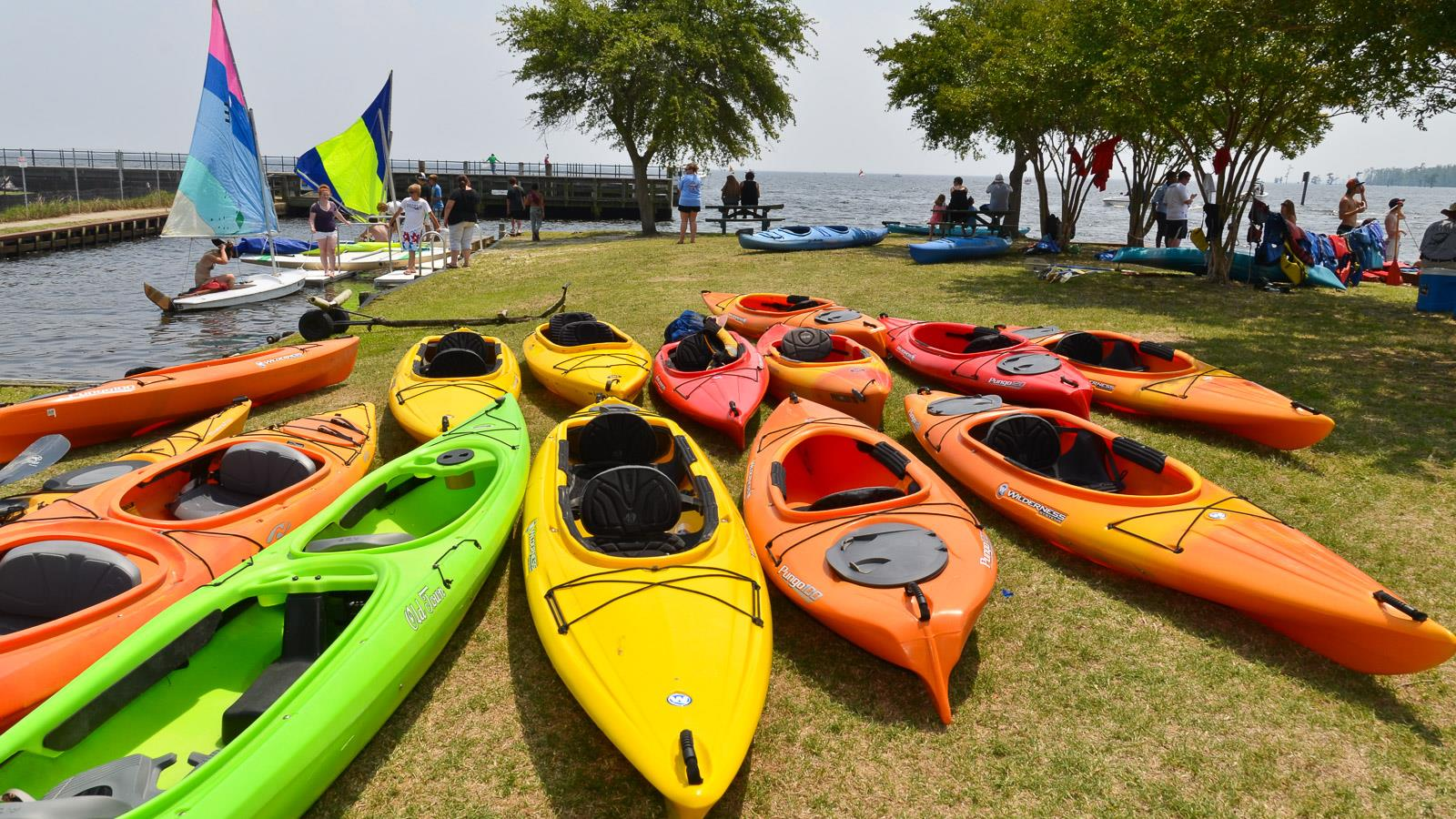 Kayaks at Edenton Harbor